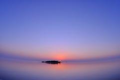 Заход солнца Мальдивов Стоковое Фото