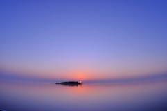 Заход солнца Мальдивов Стоковые Фото