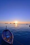 Заход солнца Мальдивов Стоковое Изображение