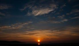 Заход солнца мира Стоковое фото RF