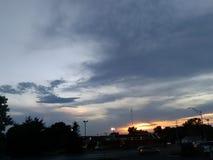 Заход солнца Миссури Стоковое Изображение