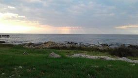 Заход солнца Монтевидео Уругвая Стоковые Изображения RF
