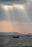 Заход солнца морем Стоковое фото RF