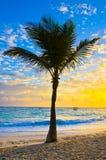 Заход солнца море стоковая фотография rf