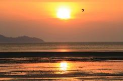 Заход солнца, море стоковые фото