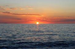 Заход солнца моря, красивая естественная сцена 3 Стоковое фото RF