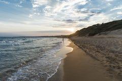 заход солнца моря природы состава Стоковые Фотографии RF