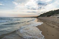 заход солнца моря природы состава Стоковое Фото