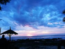 Заход солнца моря Таиланда Krabi Стоковые Изображения