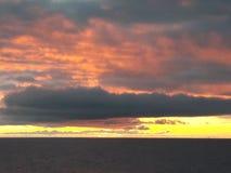 Заход солнца моря Norvegian Стоковое Изображение