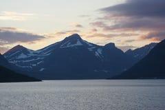 Заход солнца моря Norvegian Стоковые Изображения