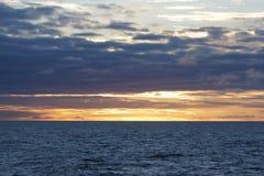 Заход солнца моря Norvegian Стоковое Изображение RF