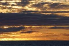 Заход солнца моря Norvegian Стоковые Фотографии RF