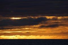 Заход солнца моря Norvegian Стоковая Фотография RF