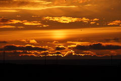 Заход солнца моря Norvegian Стоковые Фото