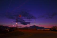Заход солнца моста Стоковые Фото