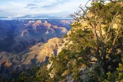 Заход солнца национального парка гранд-каньона Стоковое Фото