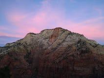 Заход солнца национального парка Сиона на приземляться ангелов Стоковая Фотография RF