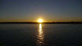 Заход солнца на Австралии Стоковое Изображение RF