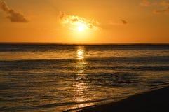 Заход солнца над лагуной Стоковое Изображение