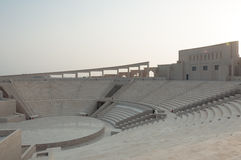 Заход солнца на амфитеатре Katara, Дохе, Катаре Стоковая Фотография