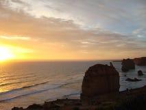 Заход солнца на 12 апостолах стоковая фотография