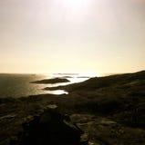 Заход солнца над архипелагом Стоковая Фотография