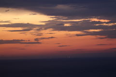 Заход солнца над Африкой стоковое изображение
