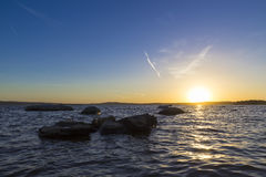 Заход солнца на верхнем пруде Iset Стоковое Изображение