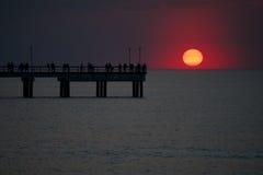 Заход солнца на весне Стоковая Фотография