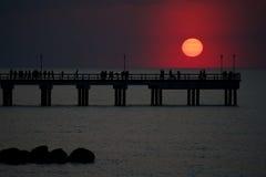 Заход солнца на весне Стоковое Изображение RF