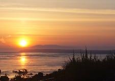 Заход солнца над входом кашевара Стоковое фото RF