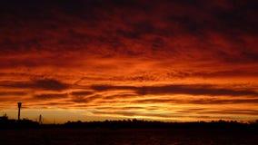 Заход солнца на гавани Стоковые Фотографии RF