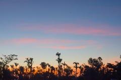 Заход солнца над Гаити Стоковые Изображения
