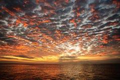 Заход солнца над Галапагос Стоковые Изображения