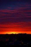 Заход солнца над городом Рязани Стоковые Изображения RF