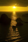 Заход солнца над графством Кларой головы петли Стоковые Фотографии RF