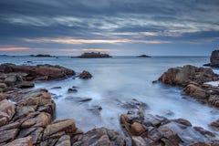 Заход солнца на заливе Cobo Стоковое Изображение RF
