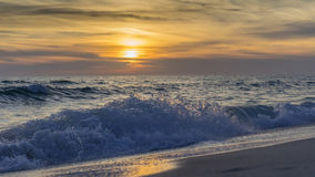 Заход солнца над заливом Стоковая Фотография RF