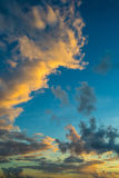 Заход солнца над карибским пляжем Стоковое фото RF