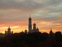 Заход солнца над Кремлем Стоковое Изображение
