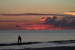 Заход солнца на ключе Siesta Стоковые Фото