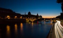 Заход солнца над Ла Il de цитирует Париж Стоковое Изображение RF
