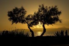 Заход солнца на Мальорке Стоковое Фото
