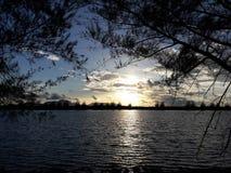 заход солнца на мое cantry Стоковые Фотографии RF