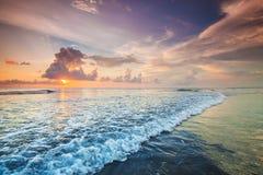 Заход солнца над морем на Бали стоковая фотография