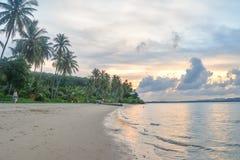 Заход солнца над морем Andaman Стоковая Фотография