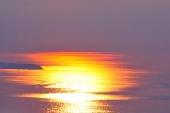 Заход солнца над морем ther Стоковое фото RF