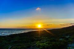 Заход солнца на море южного Китая Стоковые Изображения