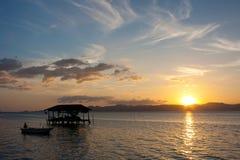 Заход солнца на море Стоковая Фотография RF